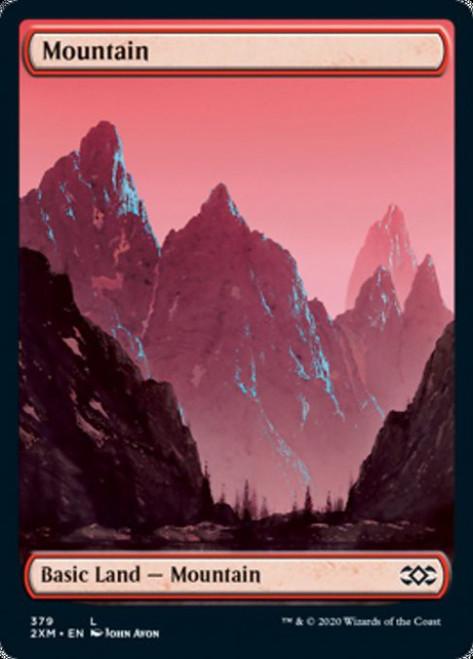 MtG Double Masters Land Mountain #379 [Full-Art, John Avon, Foil]