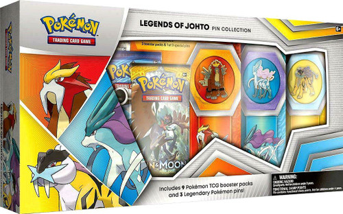 Pokemon Trading Card Game Legends of Johto Exclusive Pin Collection [9 Booster Packs & 3 Pins!]