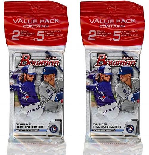 MLB Topps 2020 Bowman Baseball LOT of 2 Trading Card VALUE Packs