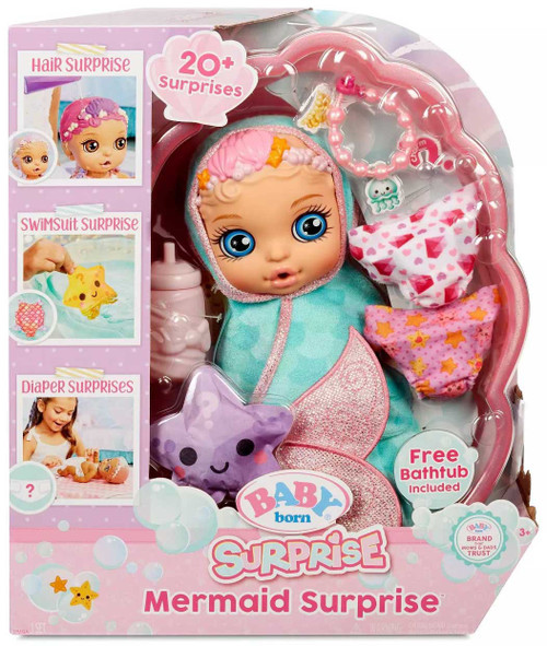 Baby Born Mermaid Surprise Doll [Green Swaddle]