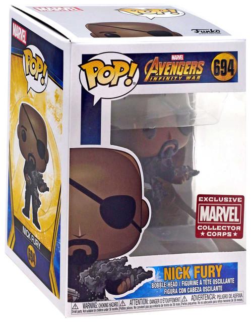 Funko Avengers Infinity War POP! Marvel Nick Fury Exclusive Vinyl Figure #694