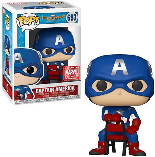 Funko Spider-Man Homecoming POP! Marvel Captain America Exclusive Vinyl Figure #693 [Sitting]
