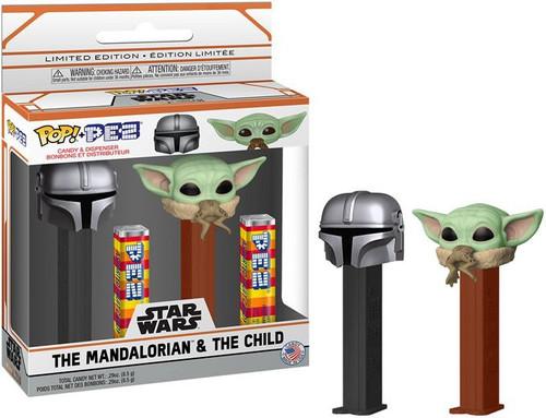 PEZ Star Wars The Mandalorian & The Child (Baby Yoda / Grogu) Pez Dispenser 2-Pack