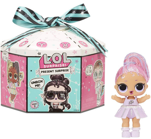 LOL Surprise Present Surprise Series 2 Glitter Shimmer Star Sign Mystery Pack
