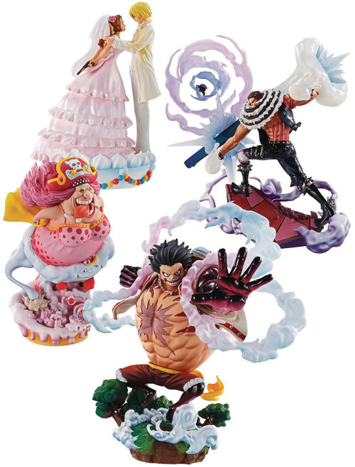One Piece Logbox Rebirth Whole Cake Island 4-Inch Collectible PVC Figure Set (Pre-Order ships July)