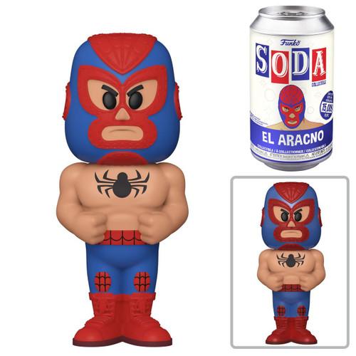 Funko Luchadores Vinyl Soda Spider-Man (El Aracno) Limited Edition of 15,000! Vinyl Figure [1 RANDOM Figure! Look For The Rare Chase!] (Pre-Order ships March)