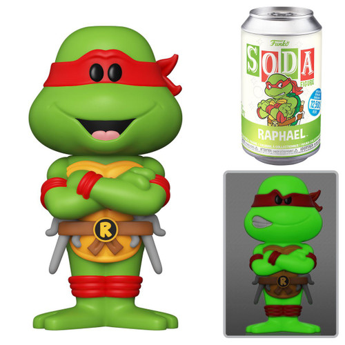 Funko Teenage Mutant Ninja Turtles Vinyl Soda Raphael Limited Edition of 12,500! Vinyl Figure [1 RANDOM Figure, Look For The Chase!] (Pre-Order ships August)