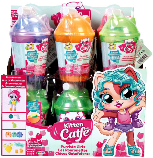 Kitten Catfe Series 4 (Boba Cup) Purrista GIrls Mystery Box [12 Packs]