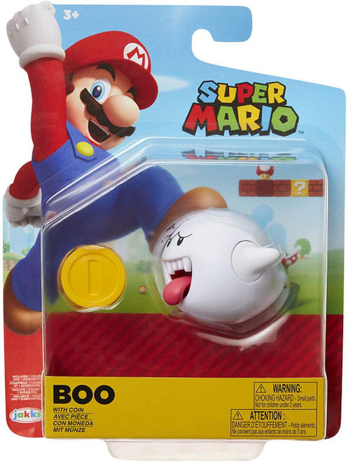 World of Nintendo Super Mario Wave 23 Boo Action Figure [with Coin]