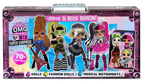 LOL Surprise OMG ReMix Super Surprise Fashion Doll 4-Pack [70+ Surprises!]