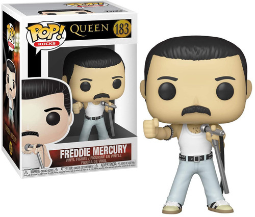 Funko Queen POP! Rocks Freddie Mercury Vinyl Figure #183 [Radio Gaga]