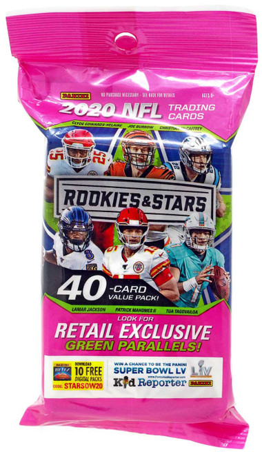NFL Panini 2020 Rookies & Stars Football Trading Card Value Pack [40 Cards!]