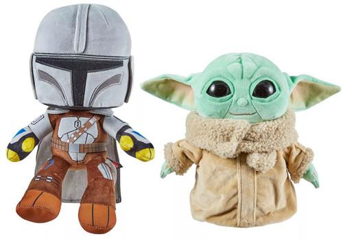 Star Wars The Mandalorian & The Child (Baby Yoda / Grogu) 8-Inch Plush 2-Pack