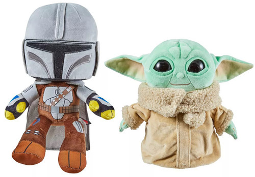 Star Wars The Mandalorian & The Child (Baby Yoda / Grogu) 8-Inch Plush 2-Pack