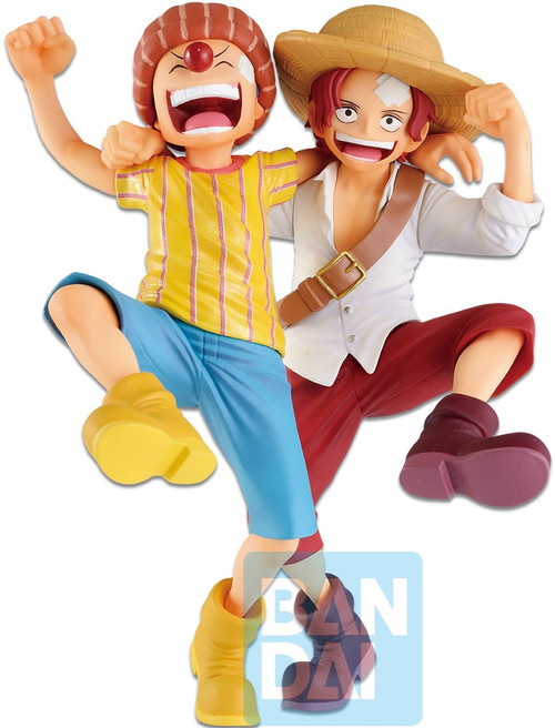 One Piece Ichibansho Shanks & Buggy 5.9-Inch Statue [Legends Over Time] (Pre-Order ships June)