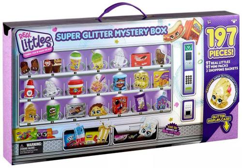 Shopkins Real Littles Series 14 Super Glitter 197 Piece Mystery Box [97 Real Littles, 97 Mini Packs & 3 Shopping Baskets!]