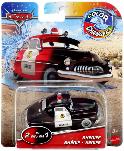 Disney / Pixar Cars Cars 3 Color Changers Sheriff Diecast Car [Black/Red]