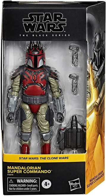 Star Wars The Clone Wars Black Series Mandalorian Super Commando Exclusive Action Figure