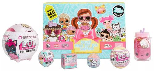 MGA Entertainment Deluxe Mega Gift Box Surprise [LOL Surprise, Lalaloopsy, Moj Moj, Num Noms & Who's That Girl]
