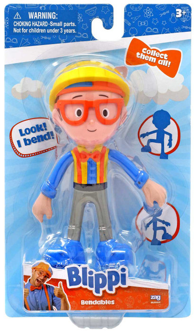 Bendables Construction Blippi Action Figure