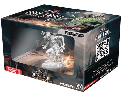 Dungeons & Dragons Nolzur's Marvelous Miniatures Dire Troll Paint Night Kit