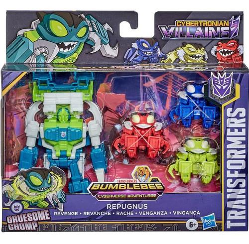 Transformers Bumblebee Cyberverse Adventures Cybertronian Villains Repugnus Revenge Pack Exclusive Deluxe Action Figure 4-Pack