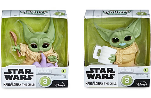 Star Wars The Mandalorian Bounty Collection The Child (Baby Yoda / Grogu) Action Figure 2-Pack [Tentacle Soup Surprise & Blue Kilk Mustache] (Pre-Order ships May)