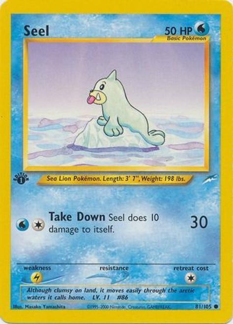 Pokemon Neo Destiny Common Seel #81 [1st Edition]