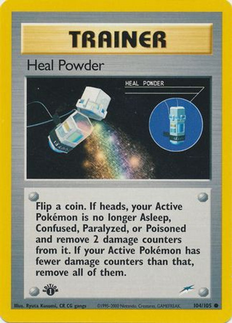Pokemon Neo Destiny Common Heal Powder #104 [1st Edition]