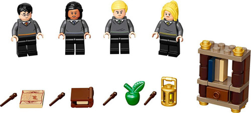 LEGO Harry Potter Hogwarts Students Minifigure Accessory Set #40419 [Harry Potter, Draco Malfoy, Hannah Abbott & Cho Chang]