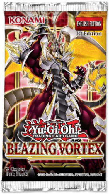 YuGiOh Trading Card Game Blazing Vortex Booster Pack [9 Cards]