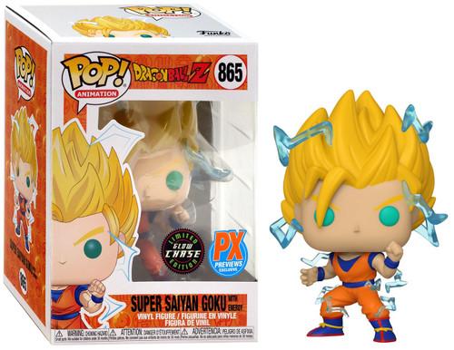 Funko Dragon Ball Z Pop! Animation Super Saiyan Goku with Energy Exclusive Vinyl Figure #865 [Glow in the Dark, Chase Version]