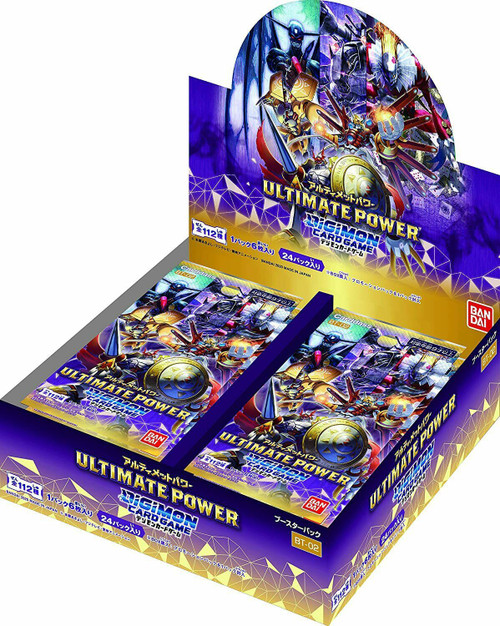Digimon Trading Card Game Ultimate Power Booster Box BT-02 [Japanese, 24 Packs]