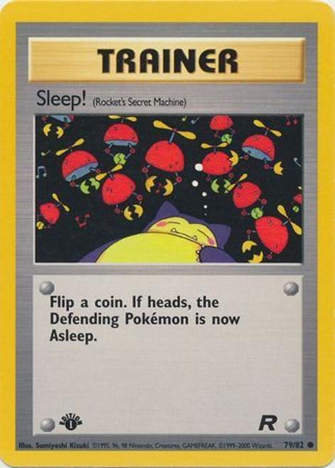 Pokemon Team Rocket Common Sleep! #79 [1st Edition]