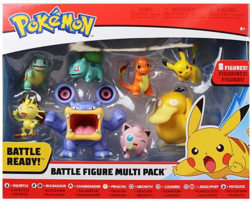 Pokemon Battle Figure Scorbunny, Grookey, Sobble, Pikachu, Jigglypuff, Cubone, Vaporeon & Magikarp 3-Inch Figure 8-Pack