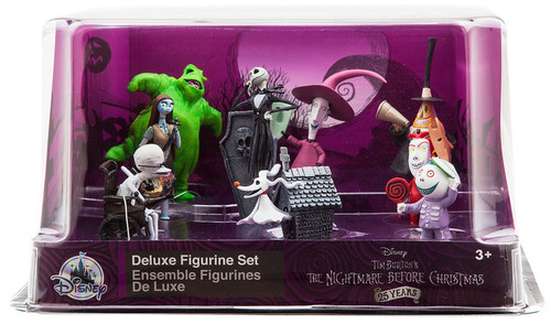 Disney The Nightmare Before Christmas 25 Years NBX Exclusive 9-Piece Deluxe PVC Figure Playset [Damaged Package]