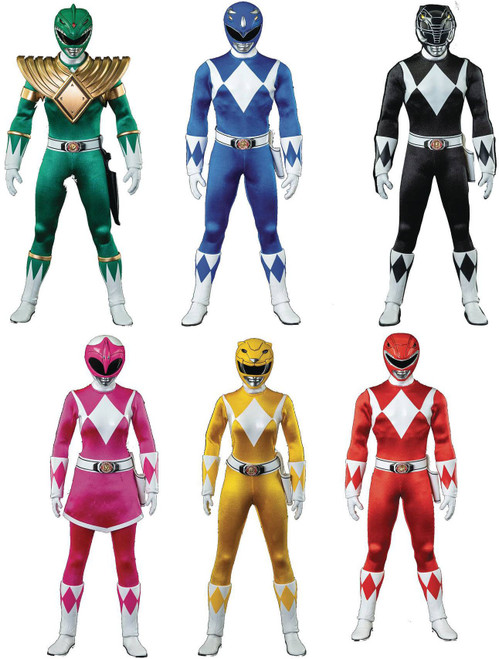 Power Rangers Mighty Morphin Red, Blue, Green, Black, Pink & Yellow Rangers Action Figure 6-Pack (Pre-Order ships September)