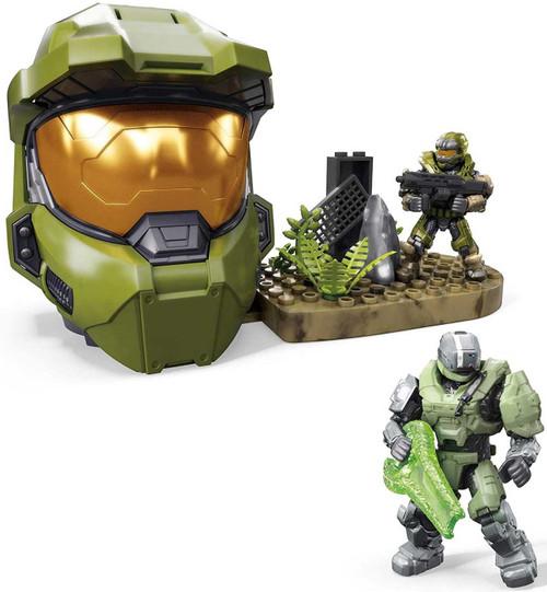 Halo Green Spartan Helmet Last Spartan Standing Set [Spartan Gungnir & Spartan Recon Micro Figures!]