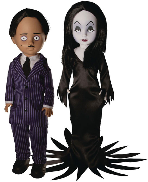 Living Dead Dolls The Addams Family LDD Presents Gomez & Morticia 10-Inch Doll 2-Pack (Pre-Order ships July)
