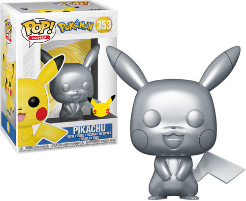 Funko Pokemon POP! Games Pikachu Vinyl Figure #353 [Metallic Silver]