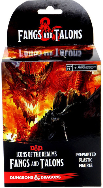 Dungeons & Dragons Icons of the Realms Fangs & Talons Booster Box [4 Minifigures Inside!]
