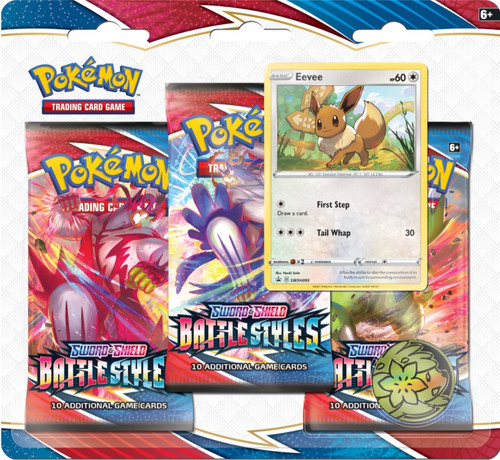Pokemon Trading Card Game Sword & Shield Battle Styles Eevee Special Edition [3 Booster Packs, Promo Card & Coin]