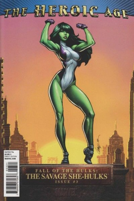 Marvel Fall of the Hulks: The Savage She-Hulks #3 Comic Book [J. Scott Campbell Heroic Age Variant]