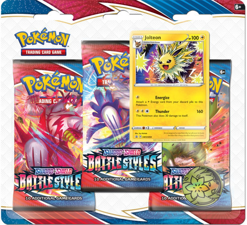 Pokemon Trading Card Game Sword & Shield Battle Styles Jolteon Special Edition [3 Booster Packs, Promo Card & Coin]