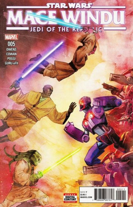 Marvel Star Wars: Jedi of The Republic: Mace Windu #5 Comic Book [First canon appearance of Ahsoka Tano in comics]