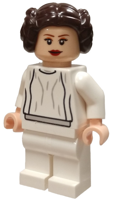 LEGO Star Wars Princess Leia Minifigure [White Dress, Big Eyelashes Loose]