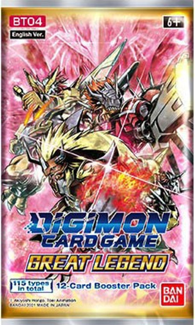 Digimon Card Game Great Legend Booster Pack [12 Cards] (Pre-Order ships May)