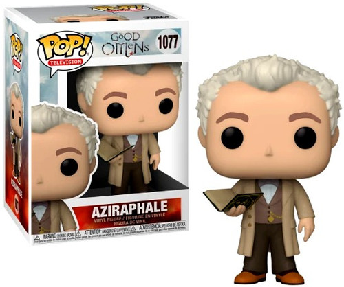 Funko Good Omens POP! TV Aziraphale Vinyl Figure #1077 [with Book, Regular Version] (Pre-Order ships March)