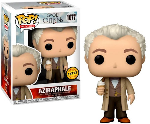 Funko Good Omens POP! TV Aziraphale Vinyl Figure #1077 [with Ice Cream, Chase Version] (Pre-Order ships March)