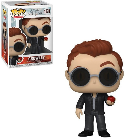 Funko Good Omens POP! TV Crowley Vinyl Figure #1078 [with Apple, Regular Version] (Pre-Order ships March)